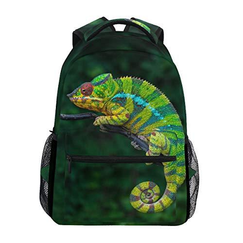 Linomo Animal Chameleon Mochila Mochila de día para Camping, Senderismo, Viajes, Escuela, Bolso de Hombro para niños y niñas Hombres y Mujeres