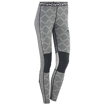 Kari Traa Women's Rett Base Layer Bottoms - Merino Wool Blend Thermal Pants Grey Medium