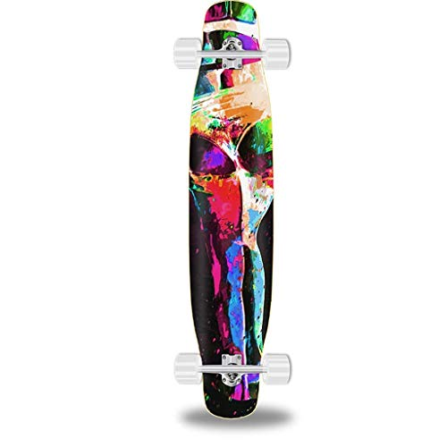 XHJTD Beginners Longboard Skateboard with Drop Through Trucks 112 23cm for You to Choose (Color : C)