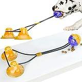 Johiux Juguetes para Perros Juguete Ventosa Interactivos para Perros, Juguete para Mordedura De Molar para Mascotas, con Ventosa para Masticar, Limpiar Los Dientes, Adecuado para Perros Y Gatos