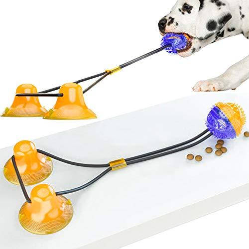 Johiux Hundespielzeug mit Saugnapf Hunde Spielzeug Hundespielzeug Gummiball Multifunktions-Spielzeug für Haustiere, robust, mit doppeltem Saugnapf, Ziehen, Kauen, Spielen