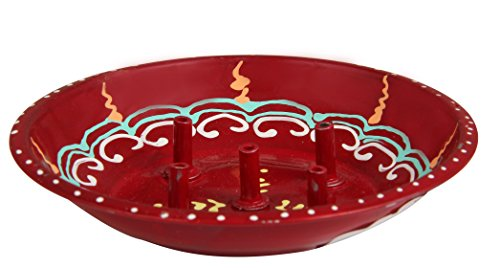 Ansh Present Antique Steel Printed Incense Stand For Pooja, Ganesh Pooja , & all auspicious occasions & daily home pooja items
