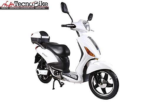 Tecnobike Shop Scooter Bicicletta Elettrica a Pedalata Assistita Z-Tech ZT-09-A 250w 12Ah Batteria al Piombo (Bianco)