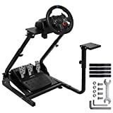 Wilk Racing Simulator Steering Wheel Stand Shifter Mount G920 Gaming Wheel Stand Pro for Logitech G25 G27 G29 G920 Racing Wheel Shifter and Pedals NOT Included (Bend Pipe)