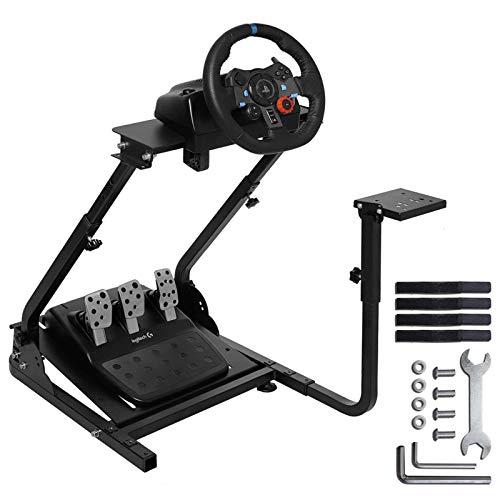 MINNEER Racing Wheel Stand レーシングホイールスタンド ハンドル スタンド レーサーシミュレーター レースシミュレーター レーシング ステアリングコントローラー ギアシフター用マウント セット ホイールスタンドプロ ロジテックホイールスタンド Logitech G29 G920 G25 G27 Thrustmaster T150/T-GT/T300RS/T500RS 対応 サポートV1またはV2 PS3/PS4/PC