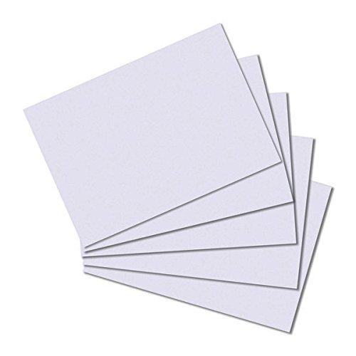 Herlitz Karteikarten A7 blanco VE=100 Stück weiß