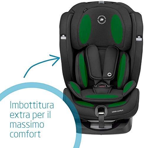 Bébé Confort Titan Plus Seggiolino Auto Isofix 9-36 kg Reclinabile, 9 Mesi -12 Anni, Gruppo 1 2 3, Regolazione Automatica Temperatura + E-Safety Dispositivo Anti Abbandono Seggiolino Auto