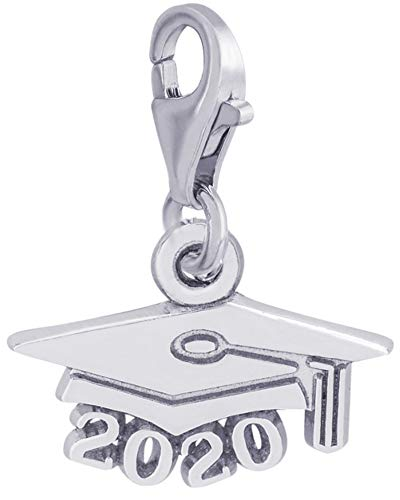 Rembrandt Charms, 2020 Graduation Cap with Clasp, 925 Sterling Silver