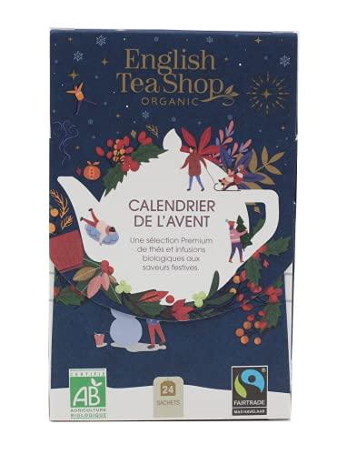 Calendrier de l'Avent Bleu de thés & infusions biologiques - petit format eco-conçu -24 sachets