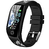 Montre Connectée Cardiofréquencemètre Bracelet Connecté Podomètre GPS Fitness Tracker d'Activité Tension Artérielle Smartwatch Sport Femme Homme Étanche IP68 Montre Cardio pour Android iOS DUODUOGO