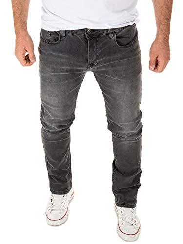 WOTEGA Herren Jeans Justin Slim - Jeans Hosen für Männer - graue Vintage Denim Stretch Hose Jeanshose, Grau (Magnet 193901), W32/L32
