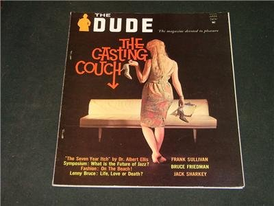 The Dude Busty Adult Vintage Magazine 'The Casting Couch' January 1962 Cheesecake