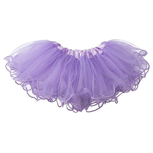 My Lello Baby Tutu Ruffled Scallope Edge Skirt 5-Layer (Newborn - 3mo.) Light Lavender