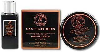 Castle Forbes Sándalo y cedro aceite esencial 150ml Set de 200ml Crema de afeitado y aftershave Balm