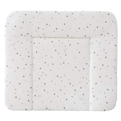 roba Cambiador 'Sternenzauber gris, suave, 85 x 75 cm, revestimiento de poliuretano, lavable