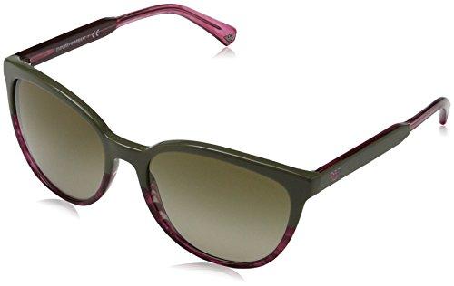 Emporio Armani Damen 0ea4101 Sonnenbrille, Pink (Military/Tr Striped Pink), 56