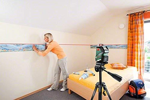 Bosch Linienlaser PLL 360 Set mit Stativ (Arbeitsbereich: 20 m, Genauigkeit: ± 0,4 mm/m, in Schutztasche) - 4