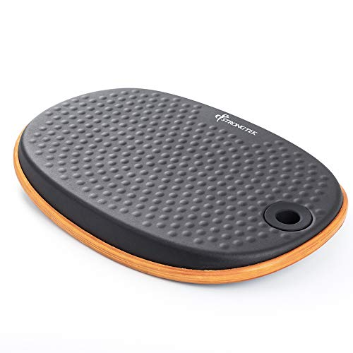 Professional Anti Fatigue Balance Board Under Desk, Standing Mat Sit Stand Desk Mat Accessory, Wobble Foot Rocker, Balancing Anti Fatigue Mat, Yoga, Exercise Core Strength, Physical Therapy