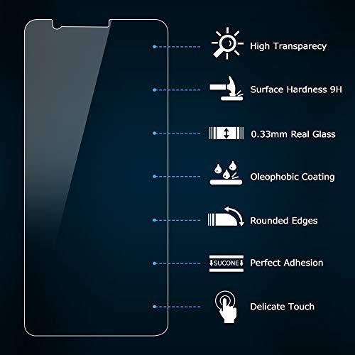 Vkaiy [2 Stück Panzerglas Schutzfolie kompatibel mit Huawei Honor 7X, 9H Härte, Anti-Kratzen, Anti-Öl, Anti-Bläschen Displayschutzfolie für Huawei Honor 7X - 2
