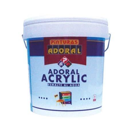Adoral - Esmalte Acrylic Blanco Satinado - Esmalte Acrílico Decoración (4L)