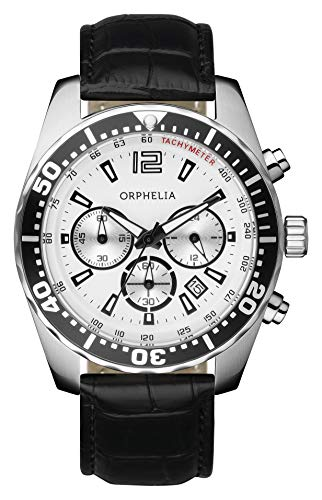 Orphelia Herren-Armbanduhr Intense Chronograph Quarz Leder