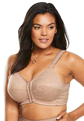 Comfort Choice Women's Plus Size Lace Wireless Posture Bra - 52 G, Nude