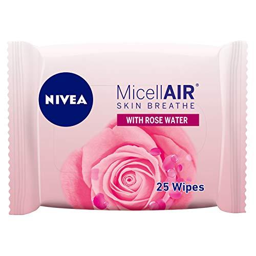 NIVEA Micellar Cleansing Wipes, Skin Breathe Rose Micellair, 25 pieces