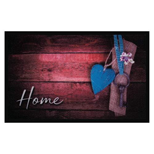 Valia Home Fußmatte - 3 Designs - Schmutzfangmatte Türmatte für Innen und Aussen - Fussmatte - Sauberlaufmatte rutschfest - Fußabtreter Haustür - Home Design 40 x 60 cm (Home 3)