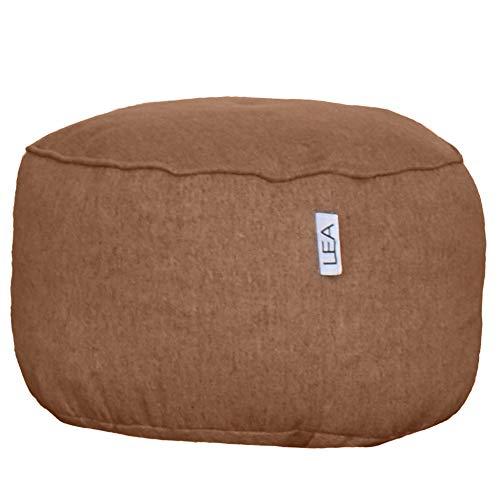Lea Unlimited Fawn Slumber Nest Beige Beanbag Chair/Ottoman