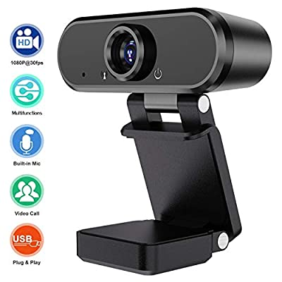 HD 1080P Webcam with Microphone,USB Cameras for Computer Streaming Desktop PC Laptop Video Calling Conferencing Meeting Recording,Web Computer Camera