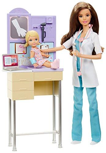 Barbie - Muñeca, Quiero ser pediatra (Mattel DKJ12)