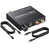 DA Wandler PROZOR 192kHz DAC Konverter Lautstärkeregler Digital SPDIF optischer Koaxial Toslink zu...