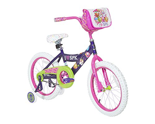 Dynacraft Shopkins Girls Street Bike 18', Purple/Pink/Green/White