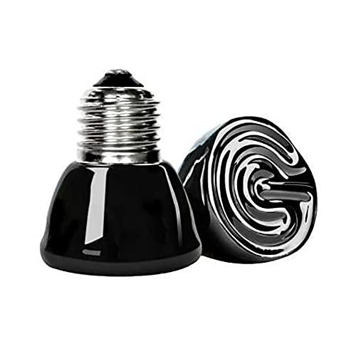 ANCLLO E27 Bombilla infrarroja lejana lámpara de calefacción de Mascotas de cerámica para Lagarto Fruta araña Reptil Caja Calentador Bombillas (25 W)