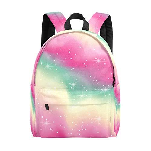Kid's Backpacks Pastel Color Abstract Bokeh Rucksack Cute Student School Book Bags