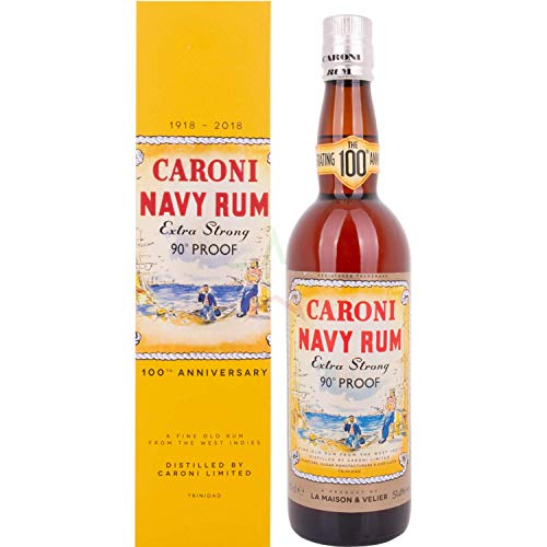 Caroni Navy Rum Extra Strong 90° PROOF 100th Anniversary (1 x 0.7 l)