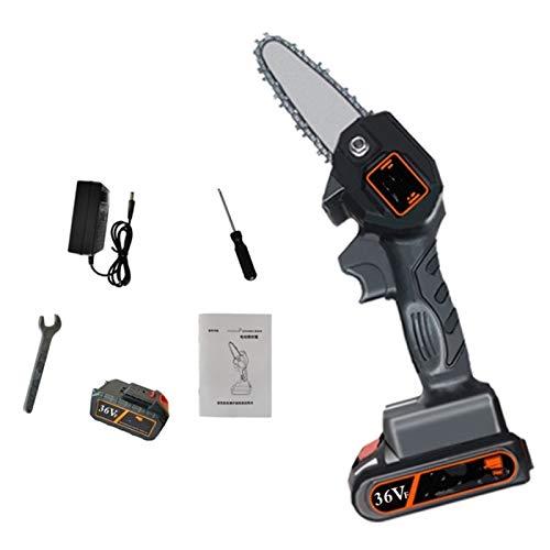 Sierra de poda eléctrica Una imparcial 36V portátil sierra eléctrica recargable poda minisierra batería de litio eléctrica de la carpintería (Color : Negro, Size : 2 Batteries)