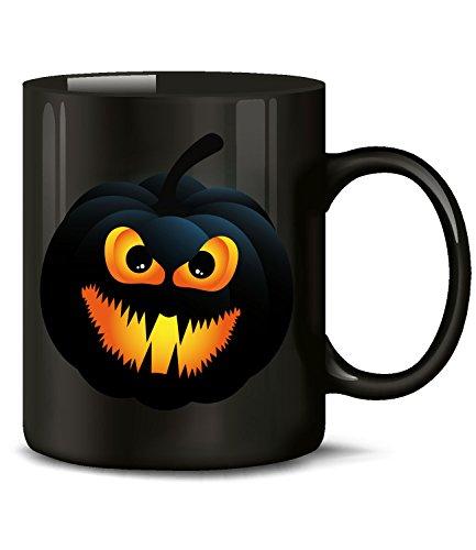 Golebros Halloween Dark Pumpkin Face Kostüm Kürbis Gesicht 4431 Tasse Becher Kaffeetasse Kaffeebecher Deko Dekoration Artikel Geschirr Zubehör Accessoires