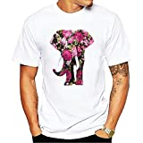 Camiseta Hombre Holgada Transpirable Animal Estampado Hombre Shirt Verano Cuello Redondo Ajuste Regular Moderna Tendencia Manga Corta Urbanas Cómodo Hombre Casuales Camisa A-DW1 L