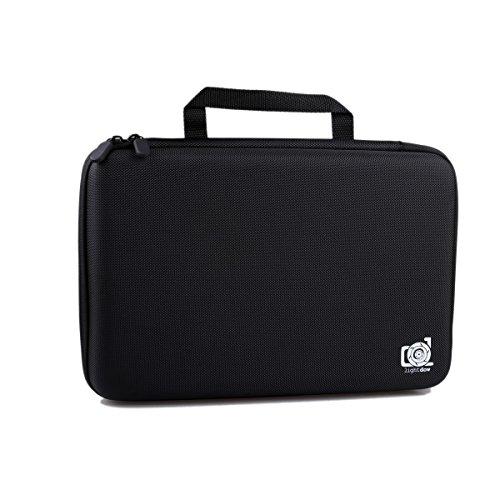 Lightdow Case Water Resistant Protective EVA Bag Storage Box for LD4000 LD6000 Yi Campark Crosstour AKASO APEMAN FITFORT EKEN DBPOWER Sports Action Cameras (Large)