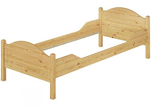 Erst-Holz Telaio Letto in Legno Pino massello 90x200 Anche per Adulti Senza doghe 60.30-09oR