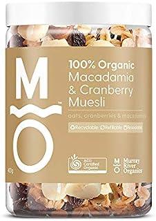 Murray River Organics Organic Macadamia & Cranberry Muesli - Recyclable Jar, 400 g