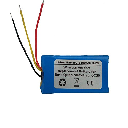 240mAh/3.7V Replacement Battery for Bose PR-452035, QuietComfort 20, QC20 Wireless Headset