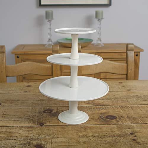 Soporte para tartas de 30 cm, color blanco, dos en uno, 1 nivel, 3 pisos, para té, cumpleaños, boda, cupcakes, etc.
