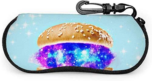 MODORSAN Sonnenbrille Soft Zipper Case Brillenetuis mit Gürtelclip Galaxy Hamburger Stars Neopren Brillentasche