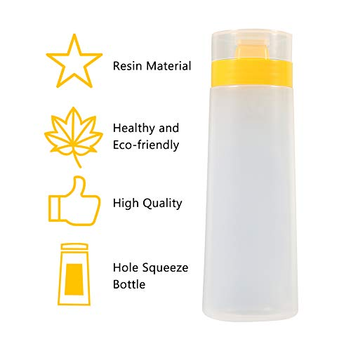 Fdit 4 Hole Sauce Bottle Squeeze Type Condiment Dispenser Safe Resin For Ketchup Jam Mayonnaise Olive Oil Vinegar Yellow Red Yellow Buy Online In Belize At Belize Desertcart Com Productid 106501772