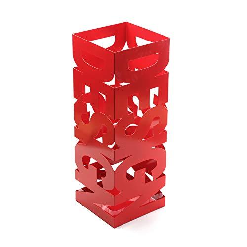 Versa Design Portaombrelli per Ingresso, Camera o Ingresso, Portaombrelli Moderno, Misure (A x L x l) 52 x 19 x 19 cm, Metallo, Colore Rosso