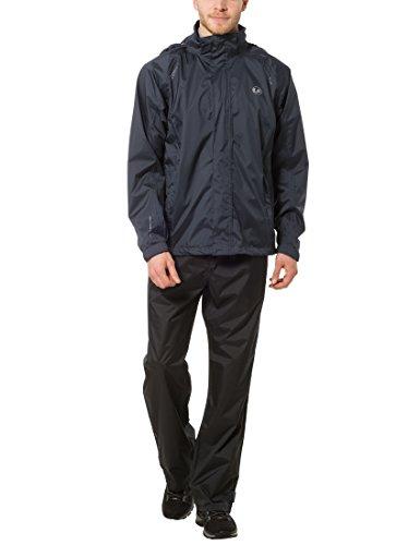 Ultrasport Ensemble vêtements imperméables pour homme - Tenue étanche noire Ultraflow 10 000 - Veste imperméable pour homme - Sur pantalon de pluie pour homme, Bleu Marine, 2XL