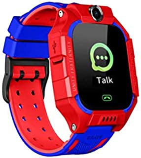 Relógio Rastreador Inteligente Infantil com Câmera Cartão SIM APP Tracker Anti-Perdido Vermelho