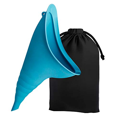 Anbock Female Urination Device, Pee Funnel for Women, Female Urinals Portable, Women Stand Up Pee Device, Reusable Women Pee Silicone Funnel, Perfect for Outdoor Activities and Public Restroom(Blue)